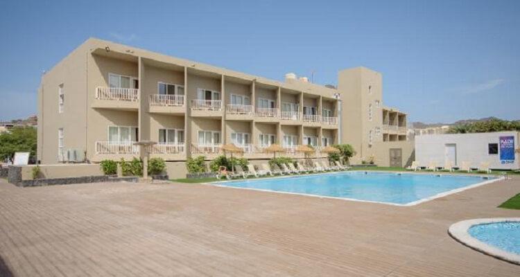 Der Außenbereich des Hotels auf Ihrer Reise nach Kapverden
