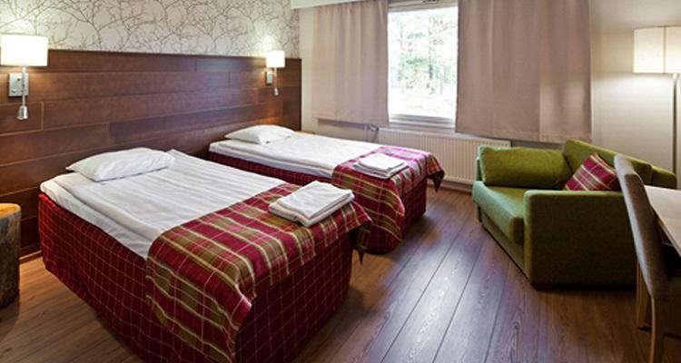 Beispielzimmer für das Sirkantahti Hotels in Lappland