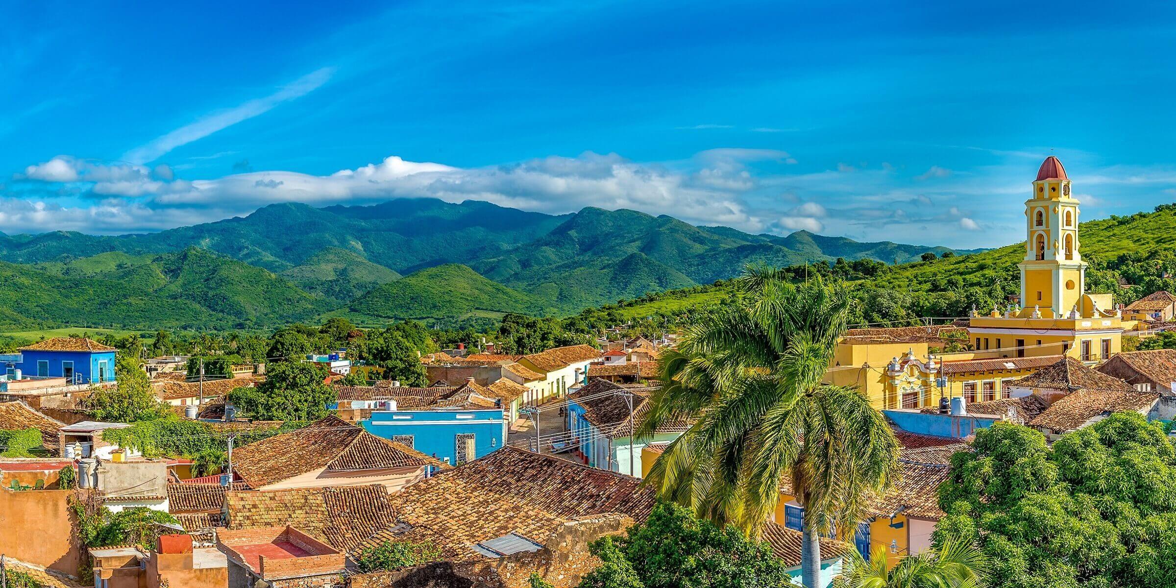 Die Aussicht über Trinidad auf Kuba