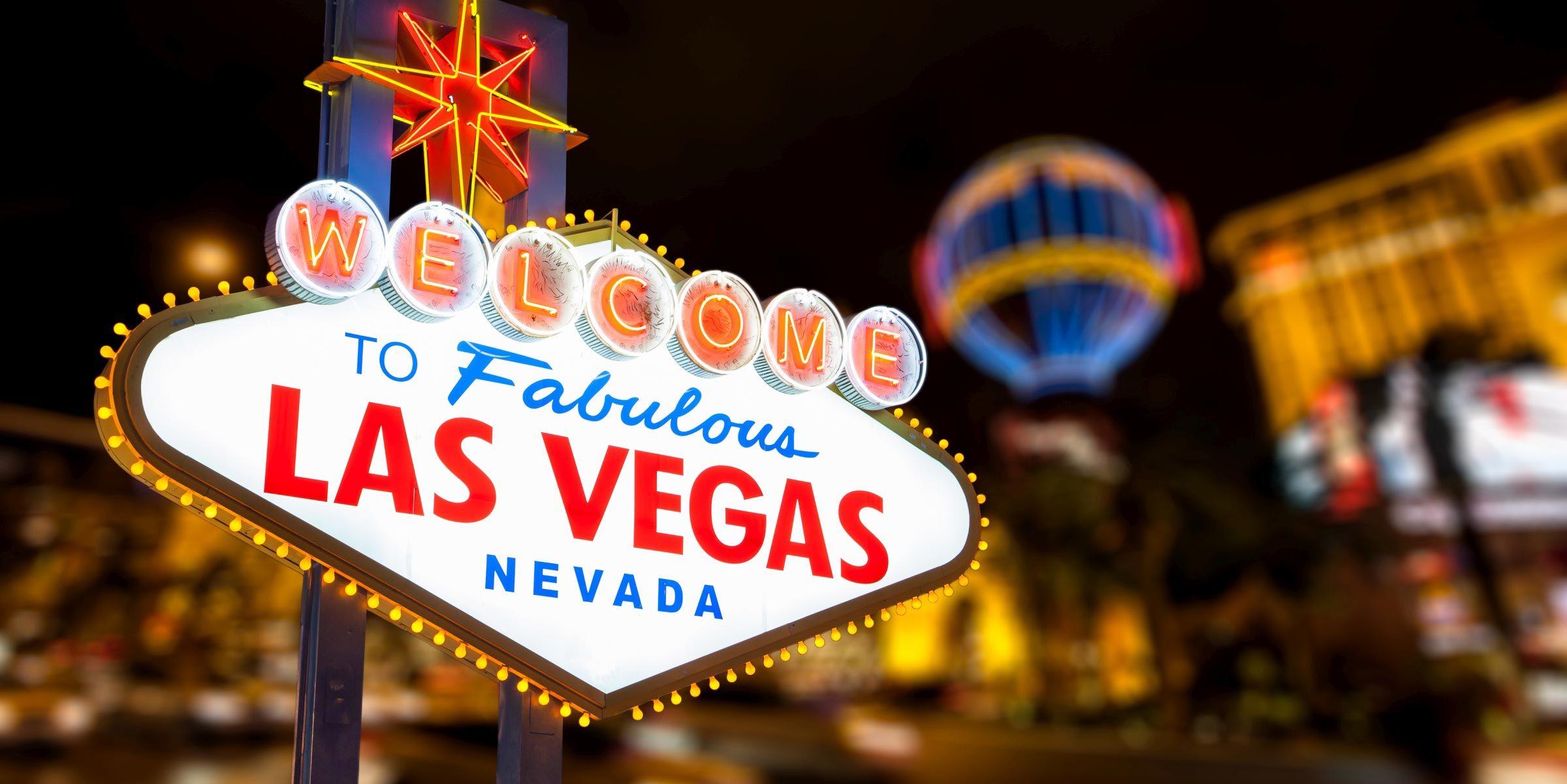 Das berühmte Schild von Las Vegas