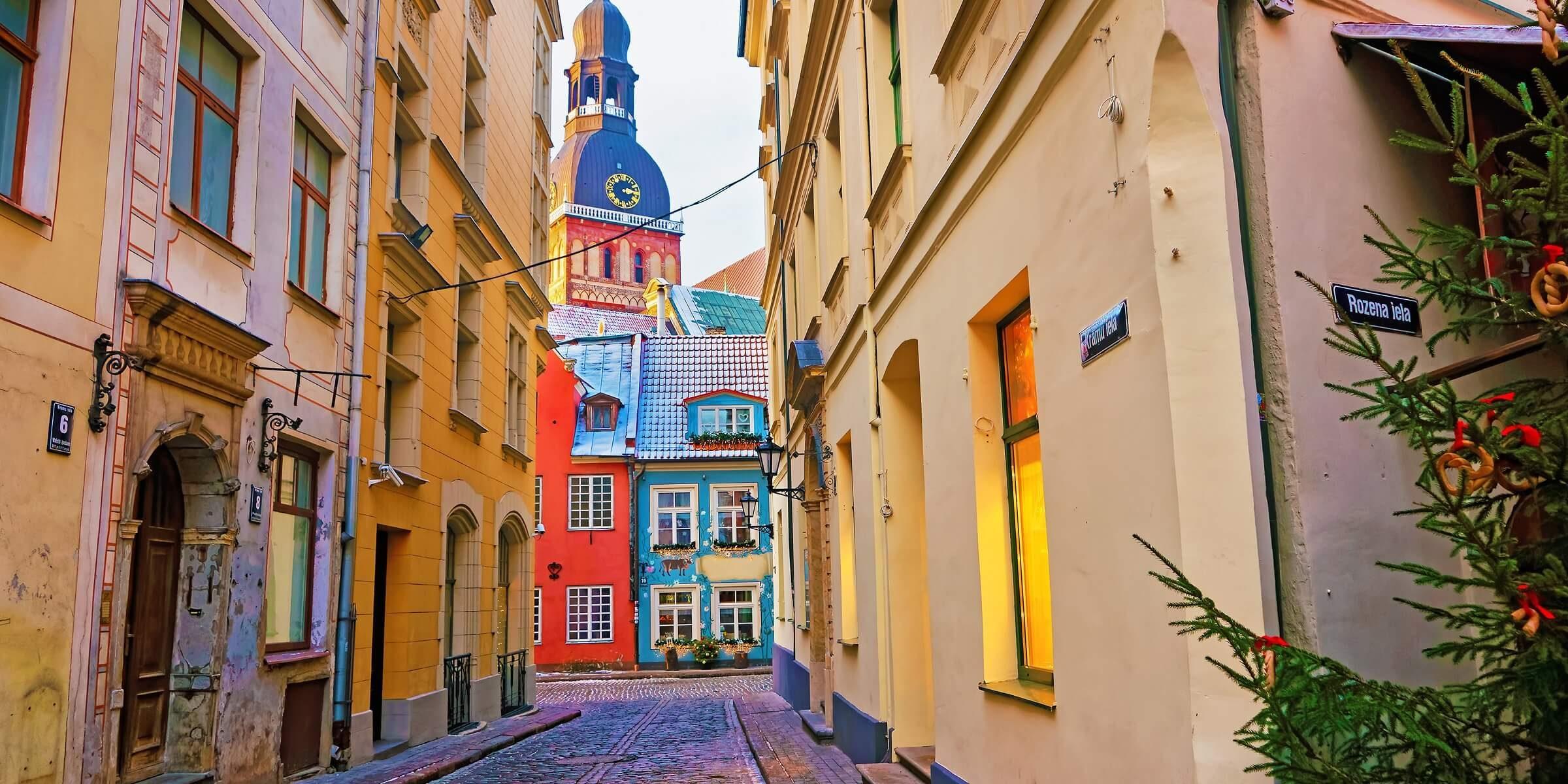Die Sankt Peters Kirche in Riga