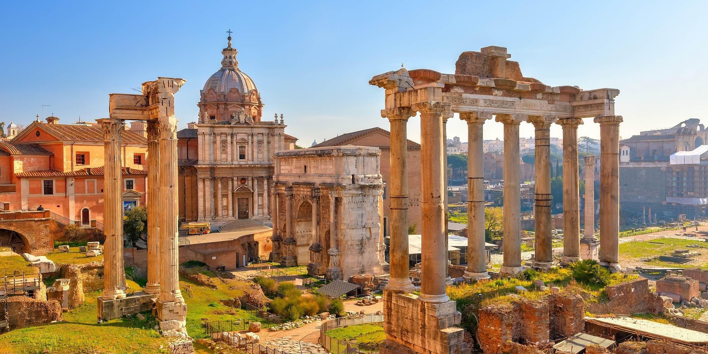 Die Ruinen des Forum Romanum in Rom