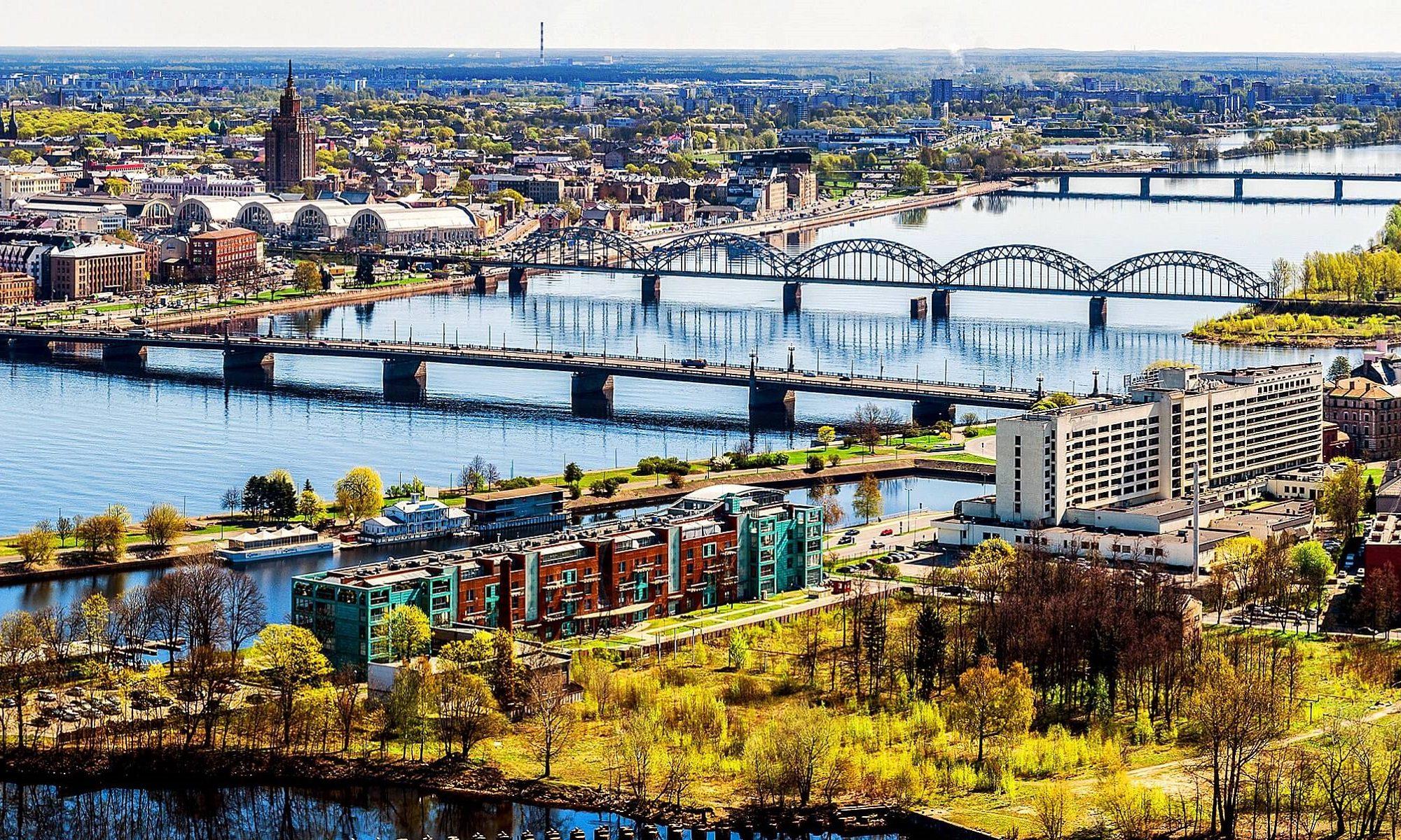 Panorama über Riga am Tag