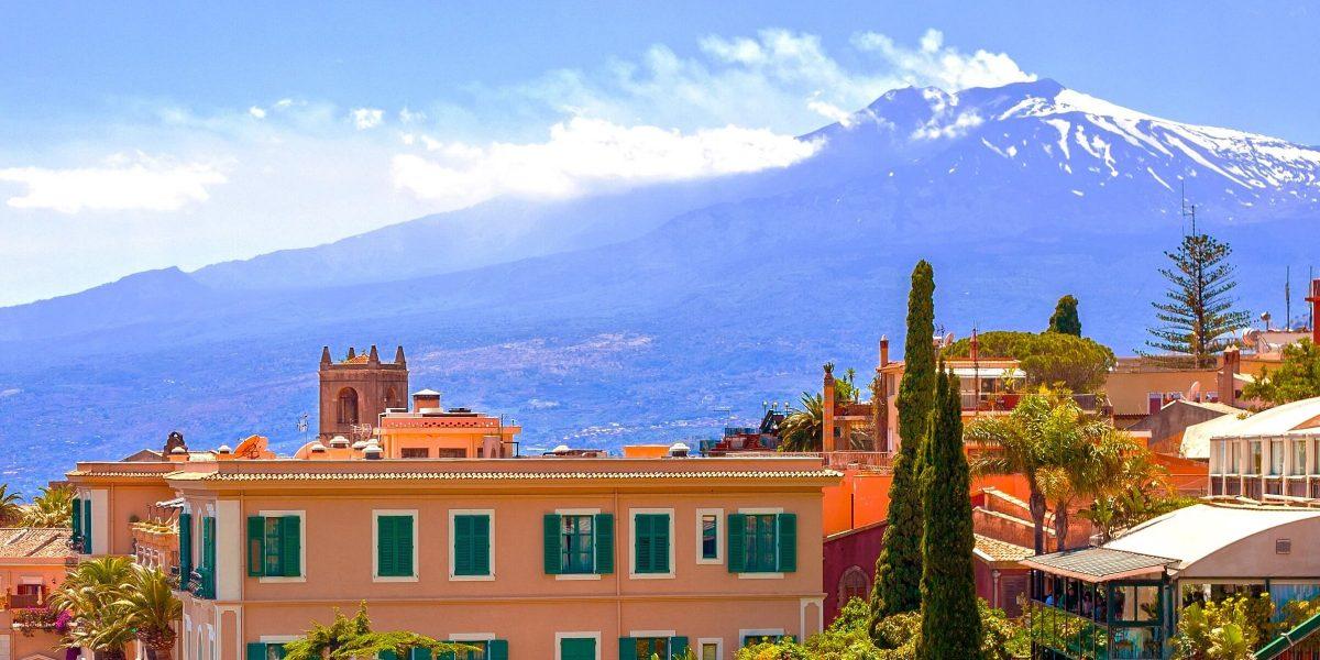Der Ausblick auf den Ätna auf Sizilien