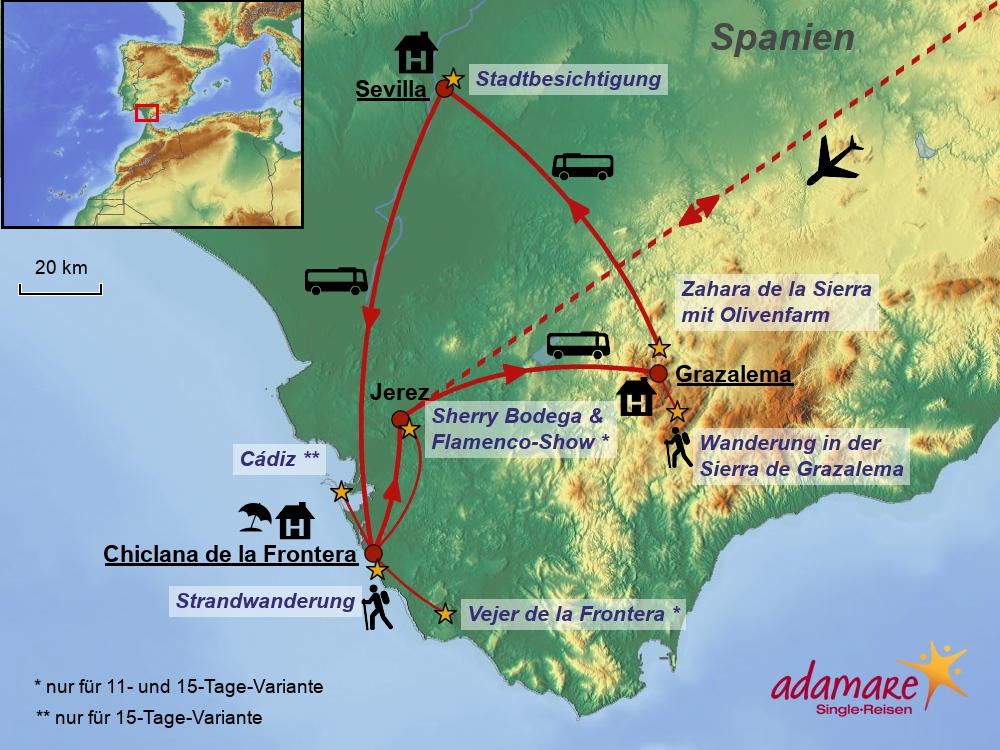 Andalusien - Standard - 8-, 11- und 15 Tage-Variante