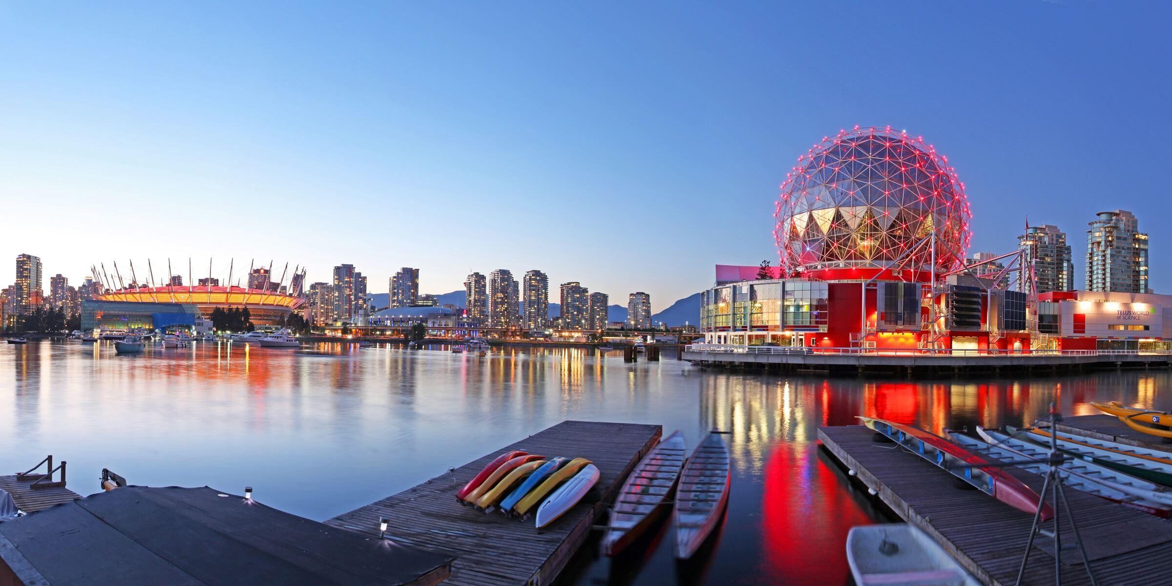 Es geht in Richtung Westen weiter in die Metropole Vancouver.