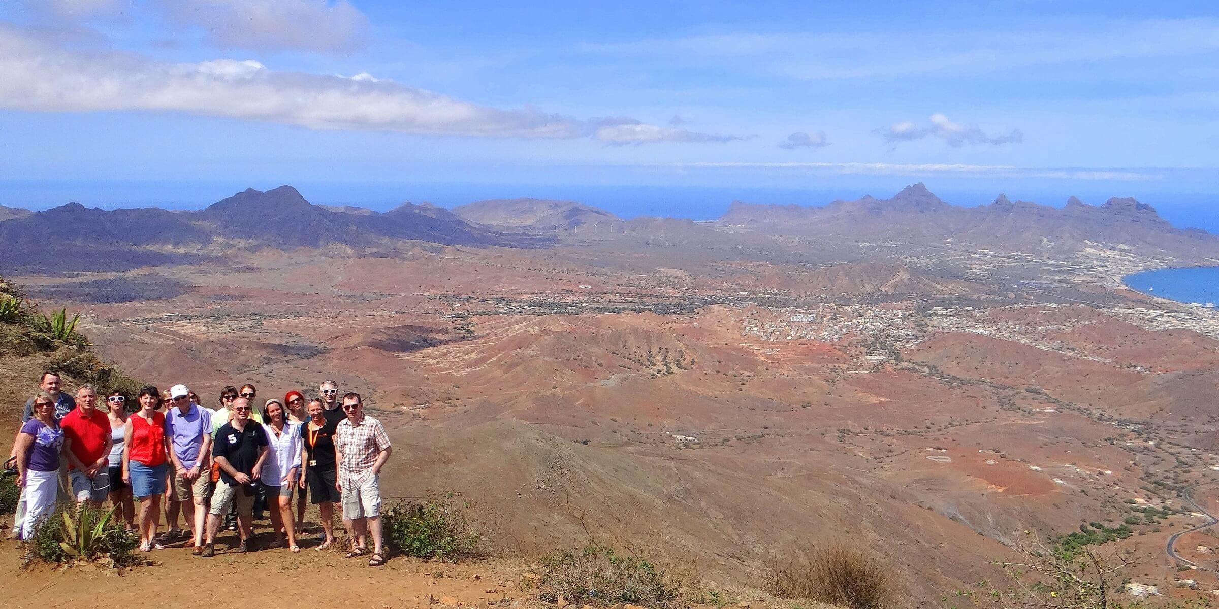 Die Reisegruppe unterwegs auf den Kapverdischen Inseln