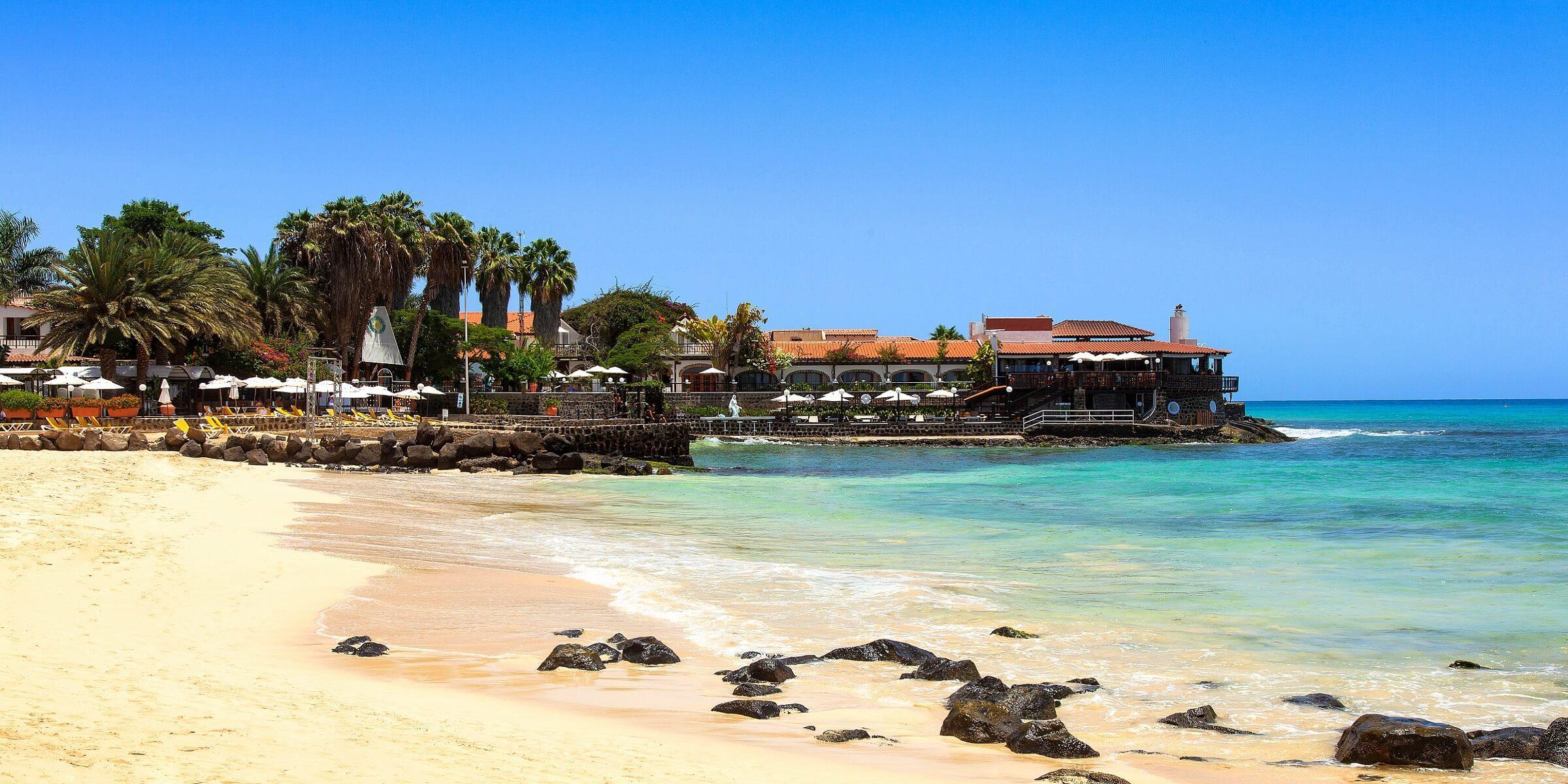 Der Strand auf der Insel Sal