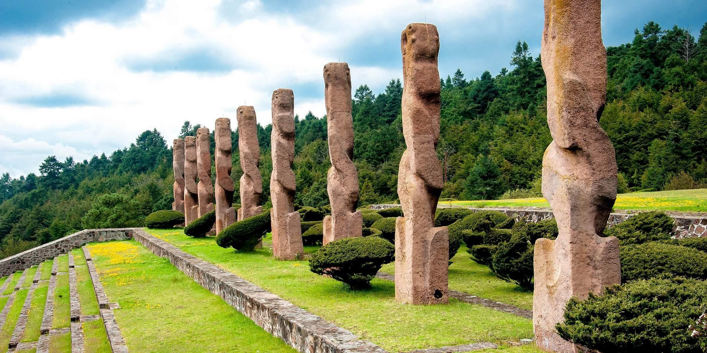In Mexiko werden Sie Architektur der Mayas sehen