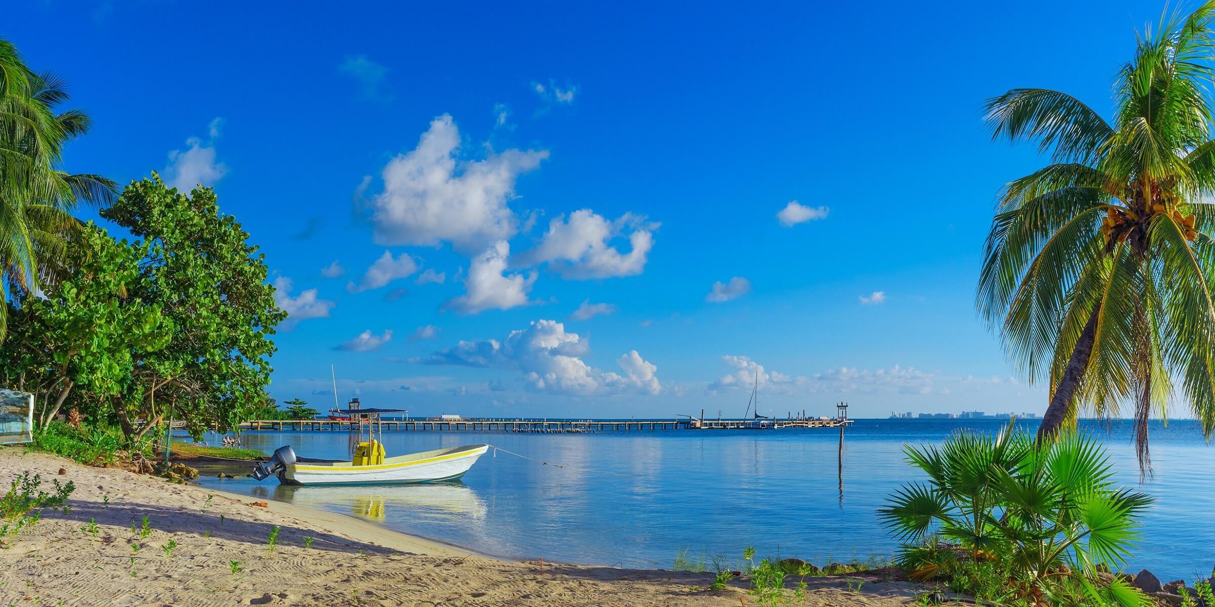 An einem solch ruhigen Strandabschnitt in Mexiko können Sie sich nur entspannen