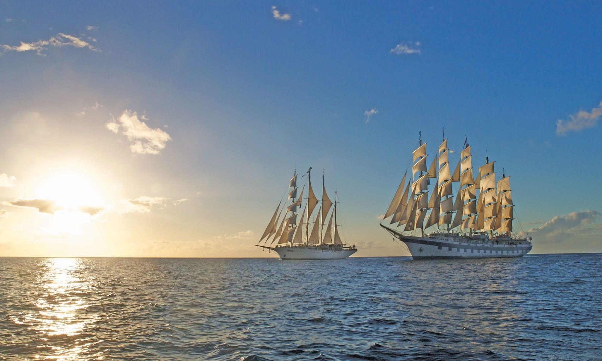 Die Royal Clipper auf offenem Meer