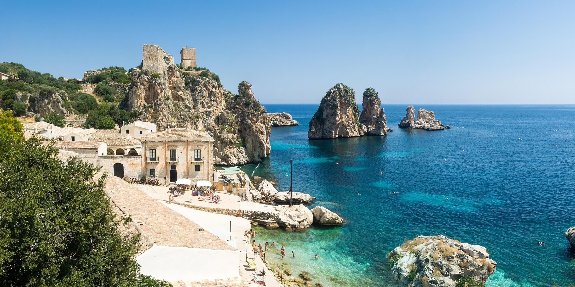 Die kleine aber feine Badebucht von Scopello auf Sizilien