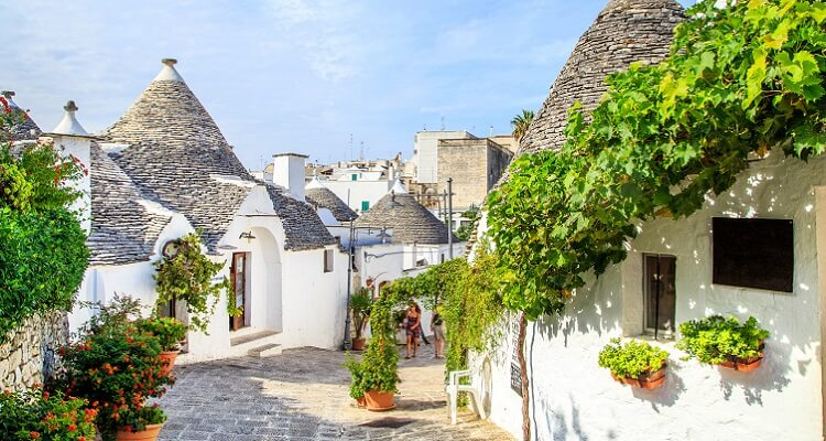 Alberobello ist das Zentrum derberühmten Trulli-Häuser