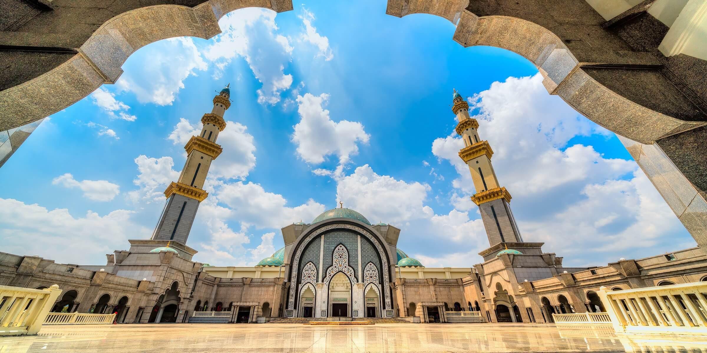 In Kuala Lumpur werden wir eine Moschee besuchen