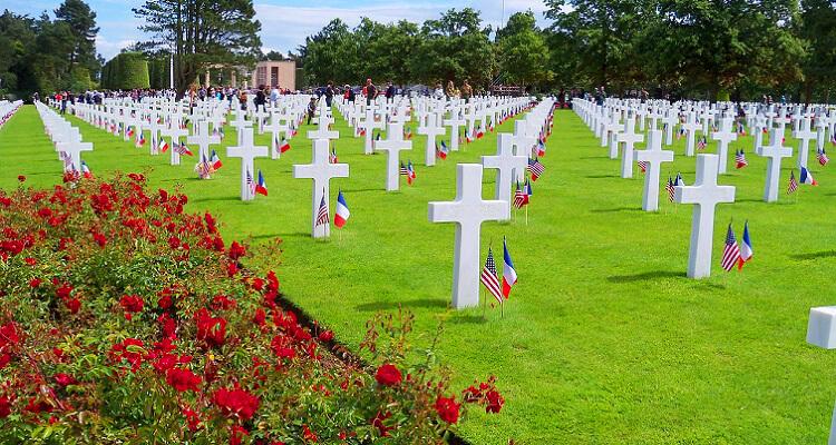 Der Soldatenfriedhof in der Normandie