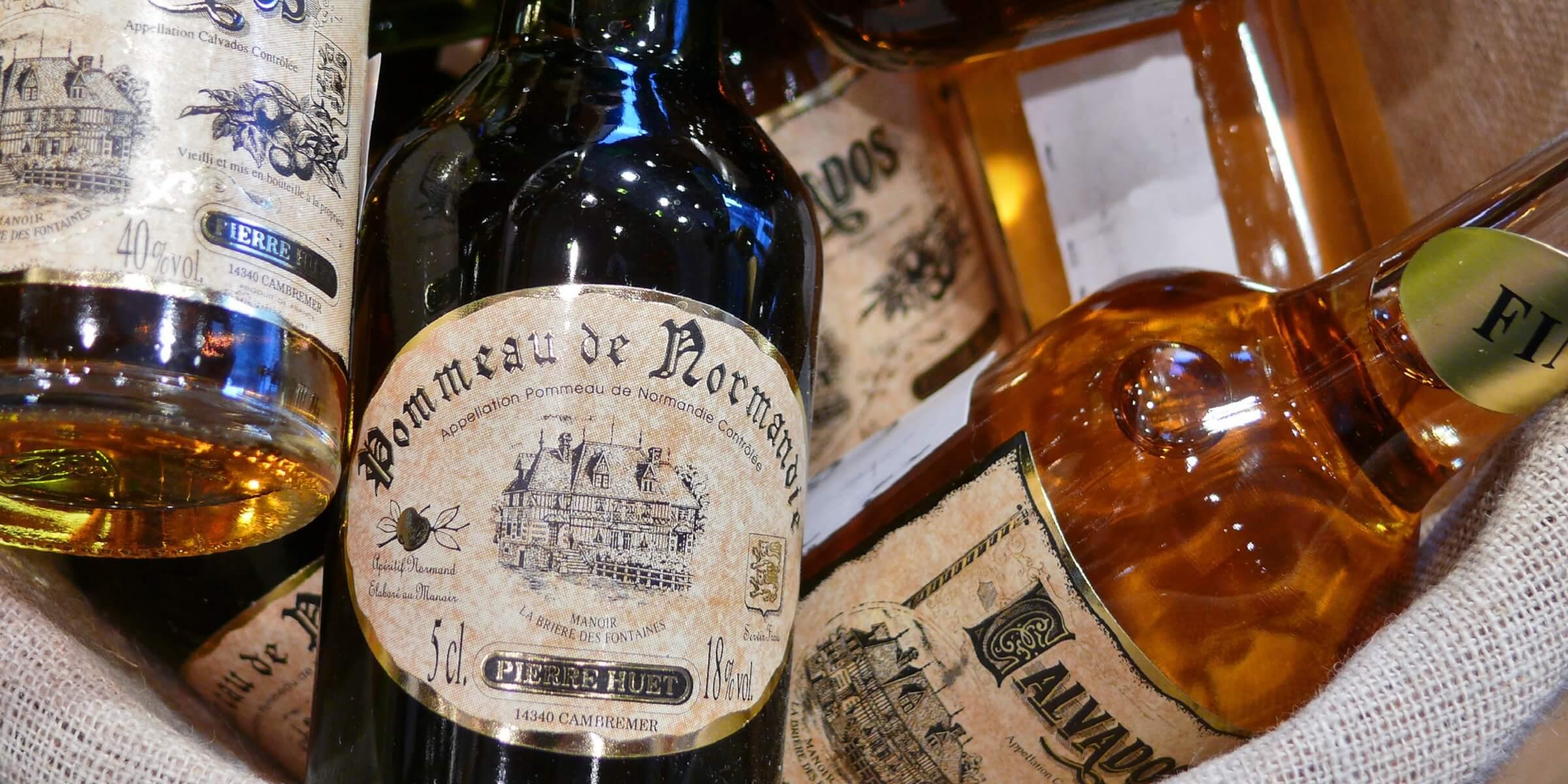 Die verschiedensten alkoholischen Spezialitäten aus der Normandie