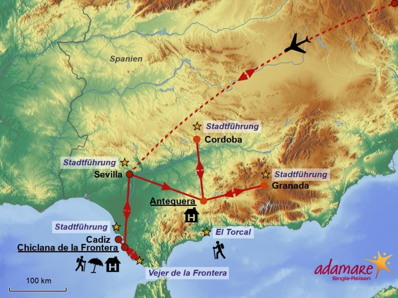 Reiseroute für Andalusien – der hinreißende Süden Spaniens
