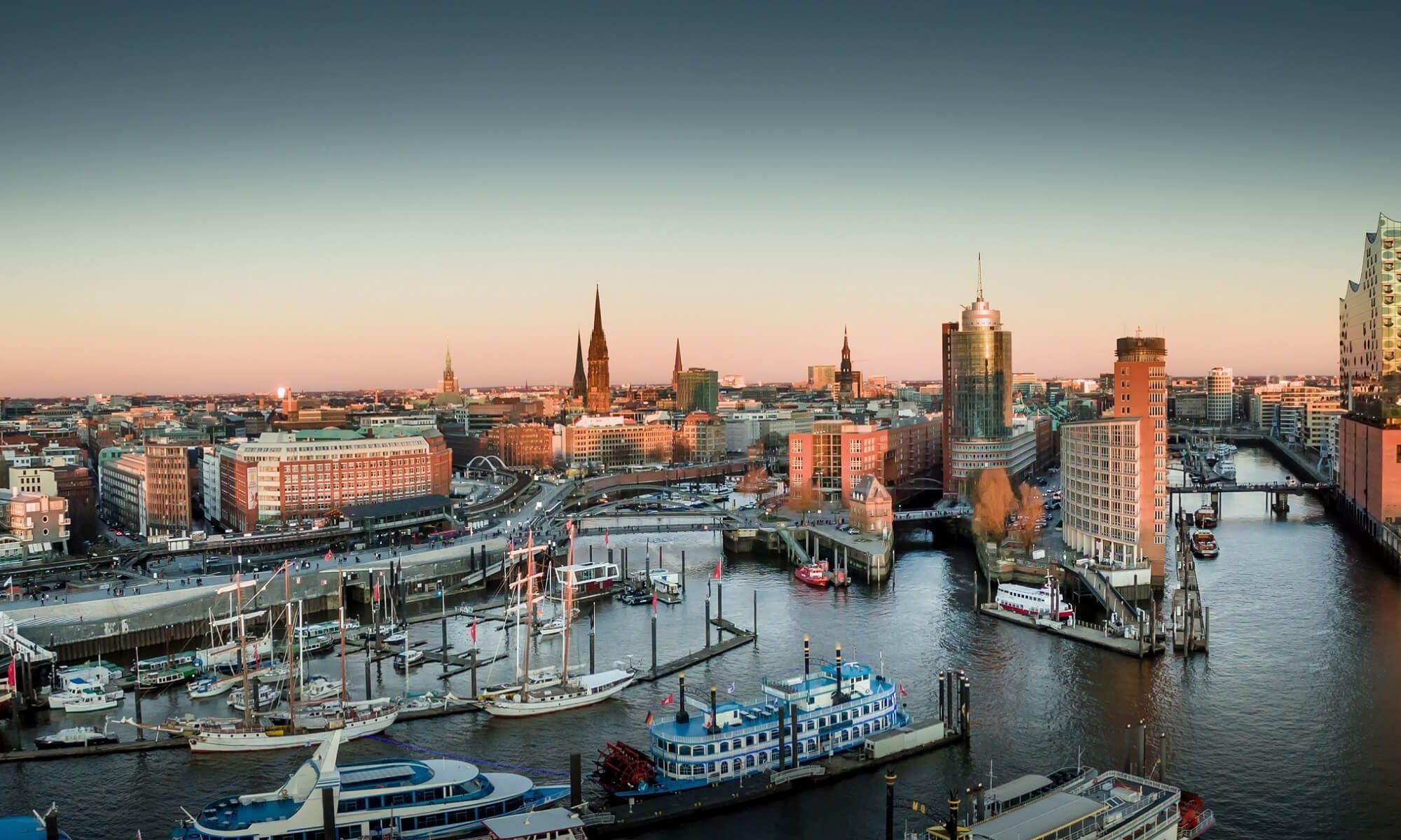 Der Hafen in Hamburg