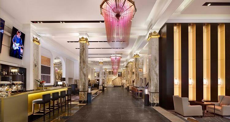 Die Lobby des Hotel Reichshof
