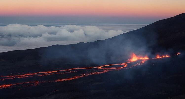 Kommen Sie dem Vulkan auf La Reunion ganz nah