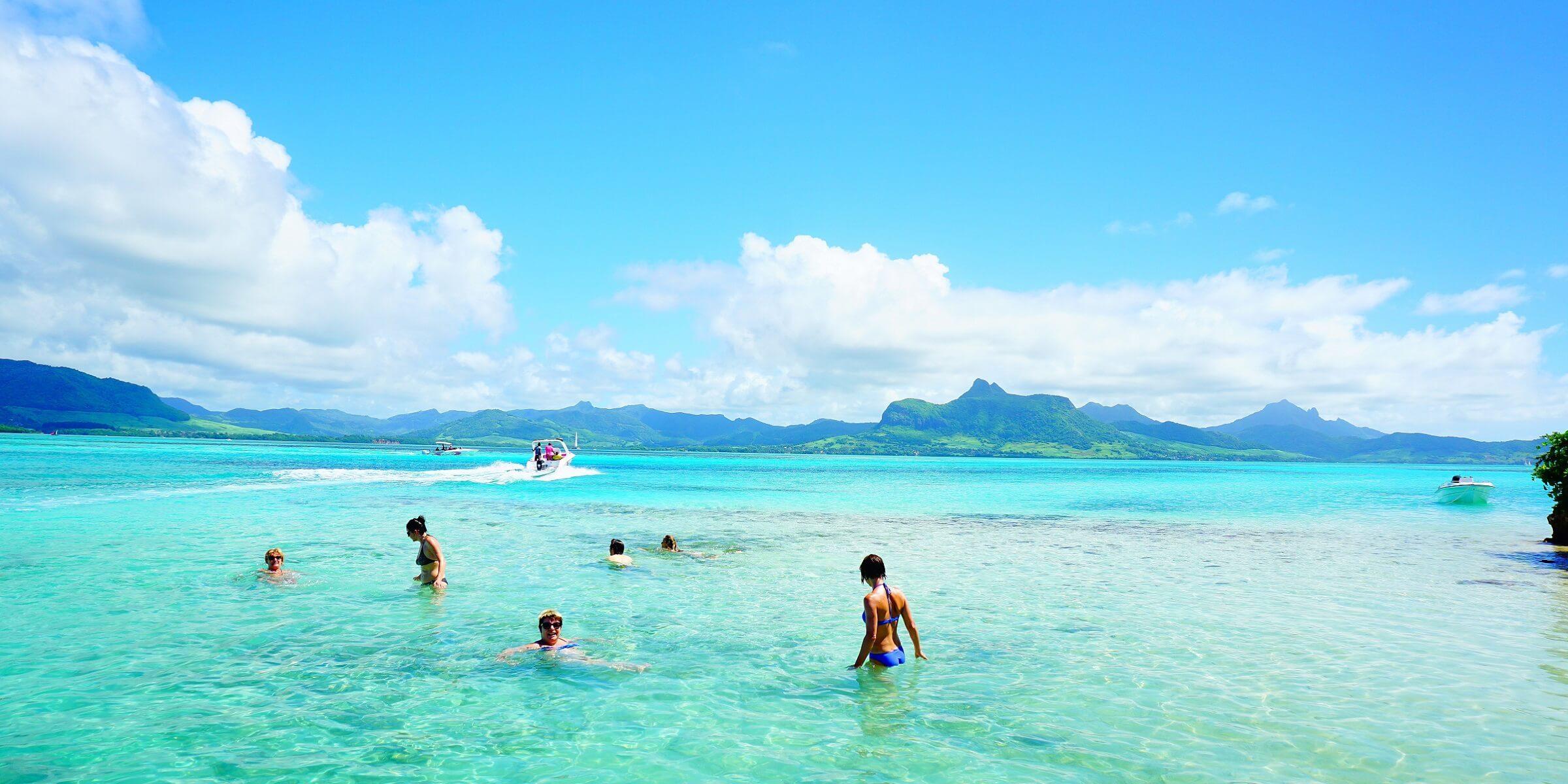 Selten haben Sie so klares Wasser als auf Mauritius gesehen