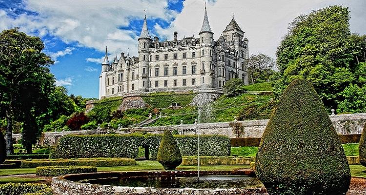 Das Dunrobin Schloss in Schottland
