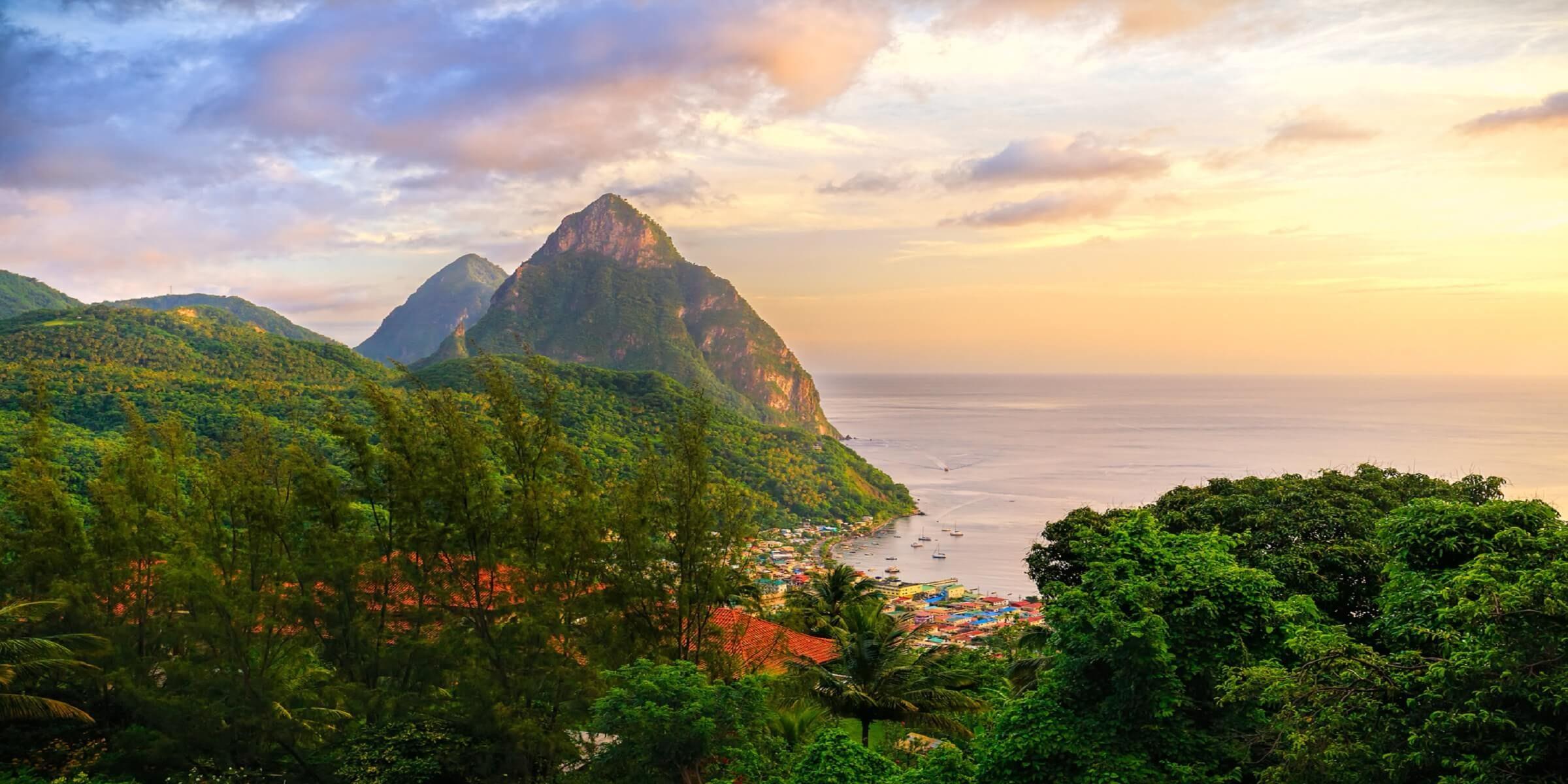 Die Insel St. Lucia in der Karibik