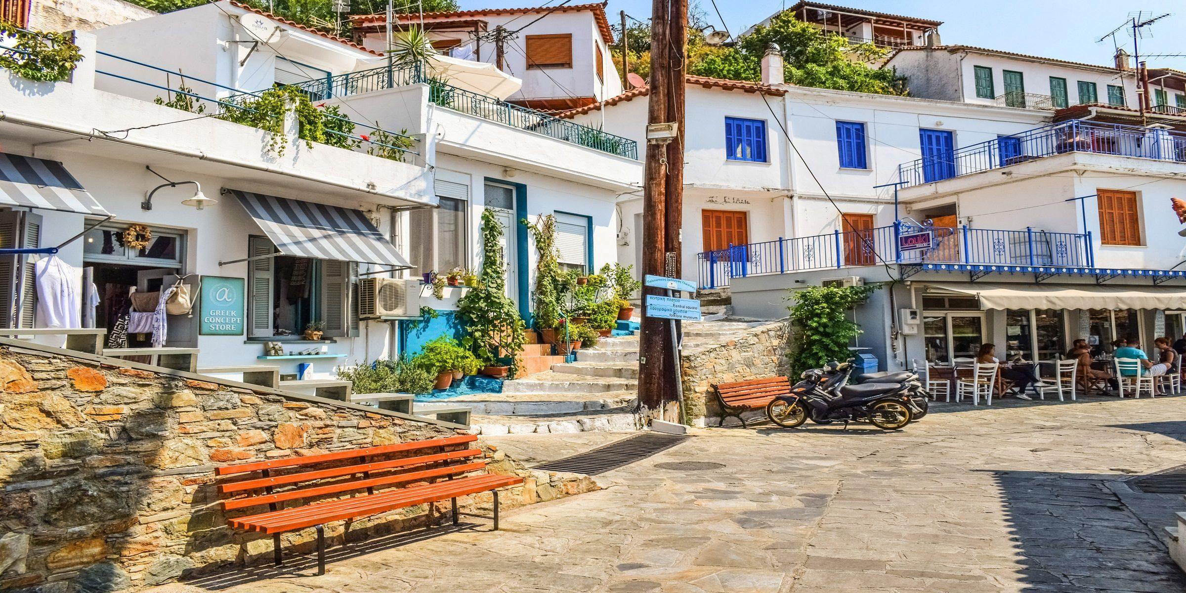 Die Altstadt von Skopelos