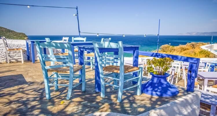 Idylle am Strand von Skopelos