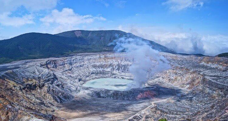 Vulkan Poas in Costa Rica