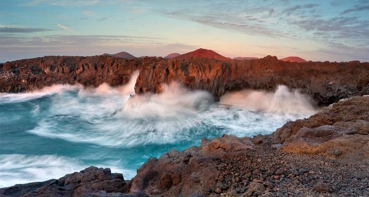 Die Küstenlandschaft auf Lanzarote