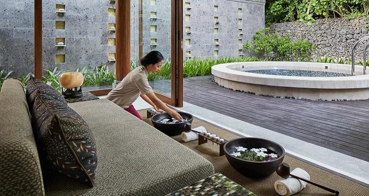 Der Spa Bereich im Hyatt Regency Bali