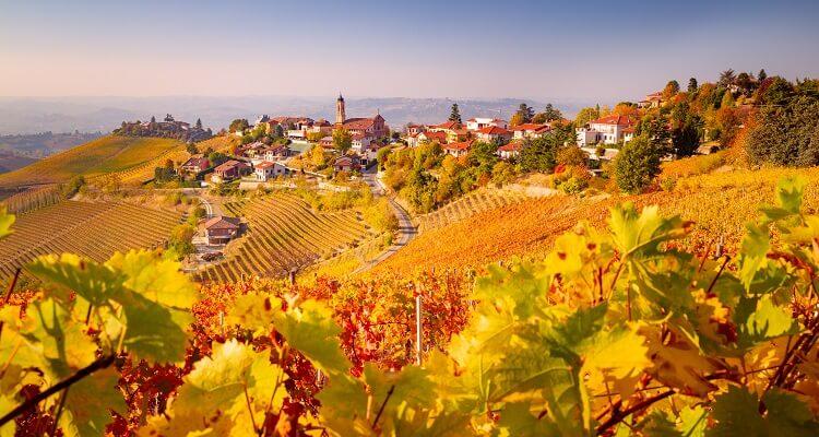 Die Landschaft in der Piemont Region