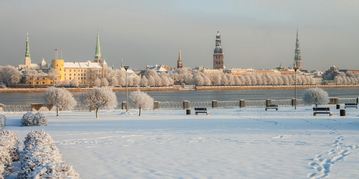 Winterlandschaft in Riga