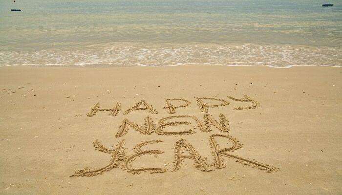 Strandspaziergang Neujahr