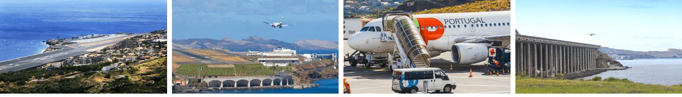 Der Christiano Ronaldo Flughafen in Funchal auf Madeira