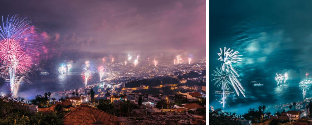 Silvester Feuerwerk auf Madeira