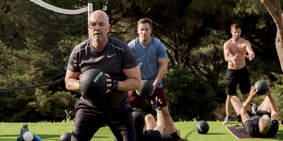 Men's Health Camp - Ball-Übung