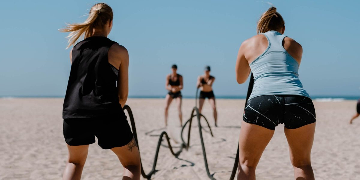 Women's Health Camp - Trainingsseil am Strand