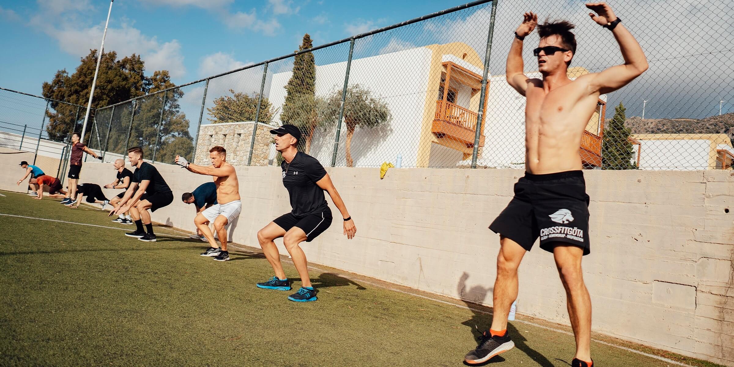Men's Health Camp - Jumping