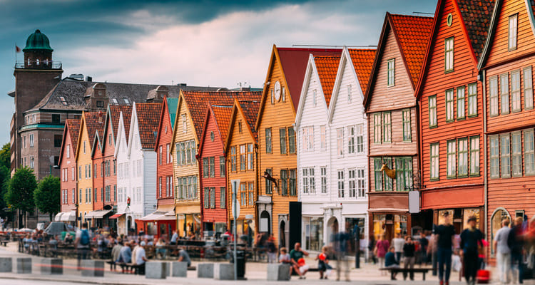 Singleurlaub in Bergen mit Stadtführung durch die Altstadt