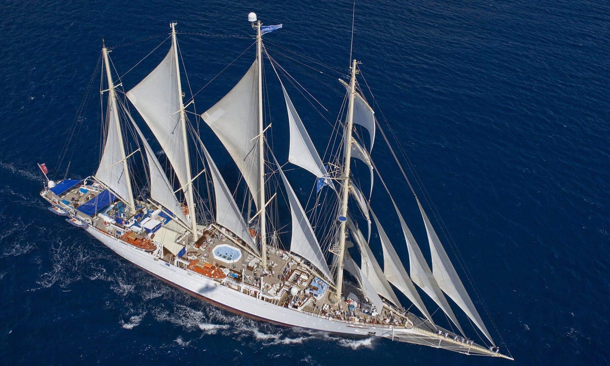 Singlereise nach Asien - Star Clipper von oben