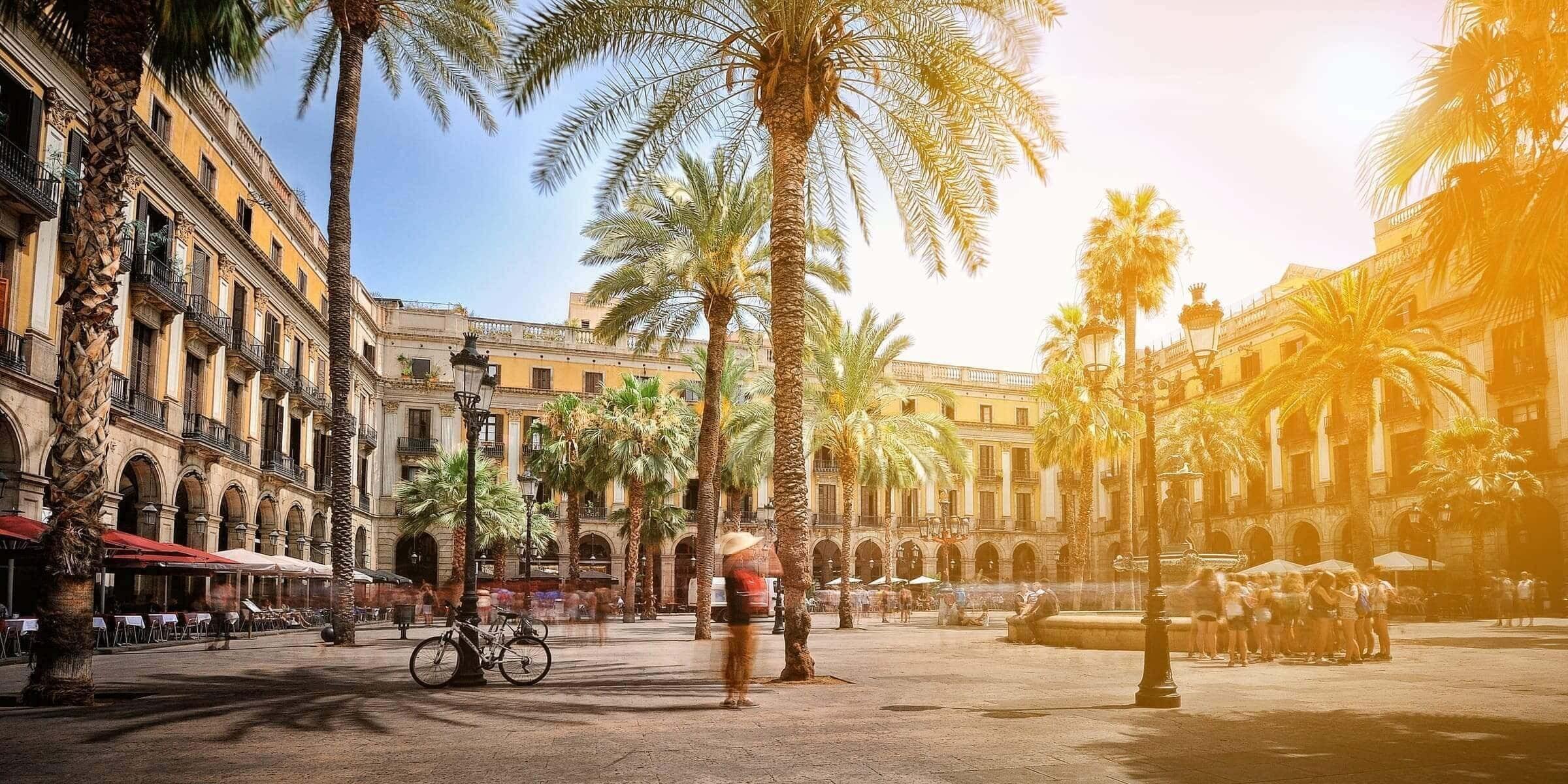Singlereise nach Barcelona - Placa Real
