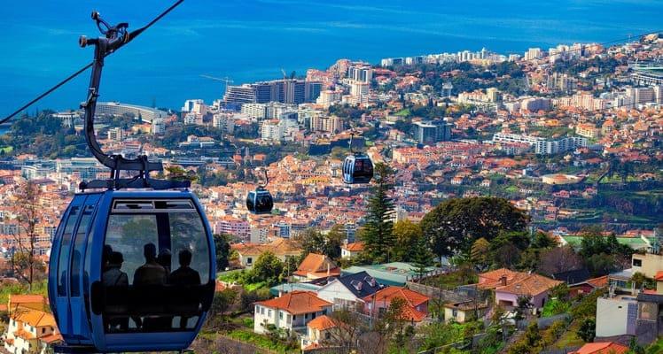 Singlereise nach Madeira - Seilbahn über Funchal