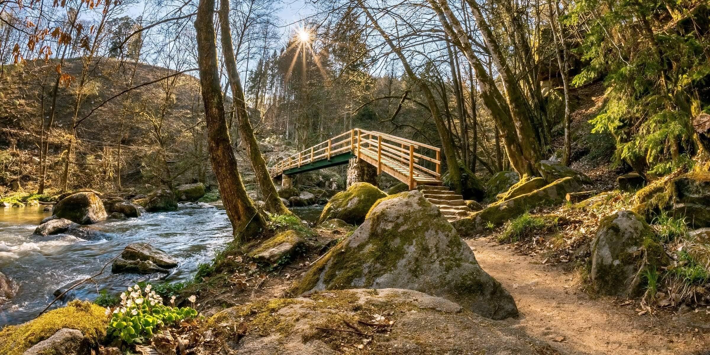 Singlereise nach Bad Leonfelden - Brücke über dem Fluss