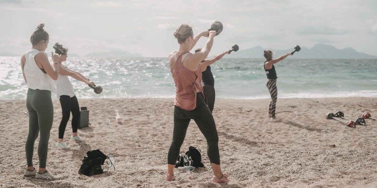 Women´s Health Camp - Training am Strand