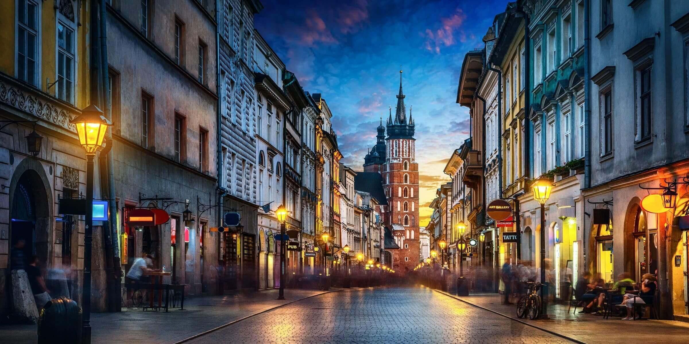 Singlereise nach Krakau - Gasse in der Altstadt