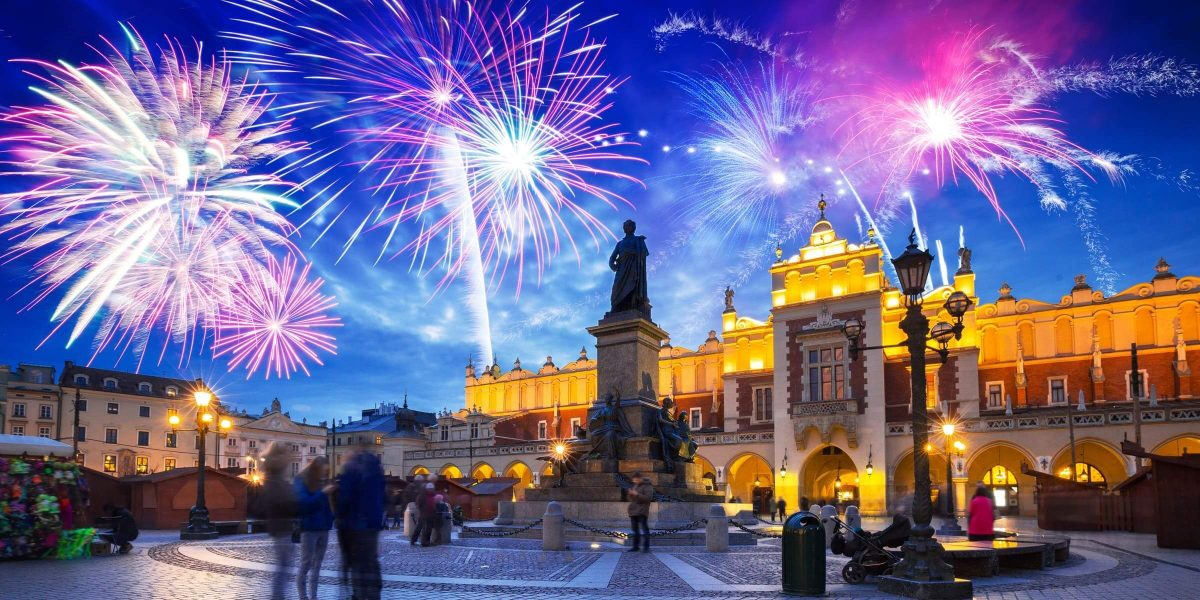 Singlereise nach Krakau - Silvesterfeuerwerk