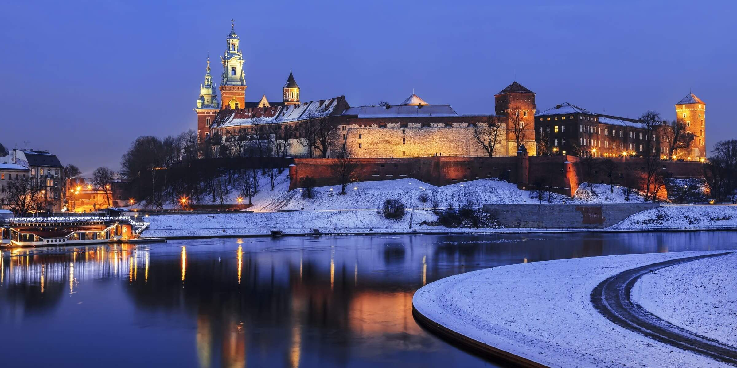 Singlereise nach Krakau - Wawel Castle im Schnee